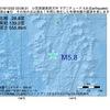 2016年10月22日 03時08分 小笠原諸島西方沖でM5.8の地震