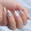 100均キャンドゥで買える『しずくネイルシール』で作る大理石ネイルが可愛い!やり方・デザイン
