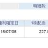 【分配金】1321 225投信の2016年7月度の分配金を頂きました