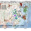 2017年08月14日 19時14分 千葉県北西部でM3.2の地震