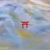 山の神様(painting)