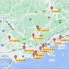 Leaflet地図:国土地理院のジオコーダーで住所から緯度経度検索。CSVからも。サンプルソース。