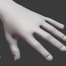 Blender 399日目。「身体のモデリング」その52 ~薬指~。