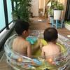 3coinsのプールがベランダにピッタリ