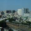 台南 シャングリラの窓から見える朝の風景です