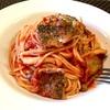 秋刀魚とトマトソースのスパゲッティ