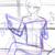 合間に新しいイラストを描く。マシュマロちゃん用の絵①
