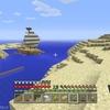 マイクラで灯台を作ったよー!(1回失敗しました)