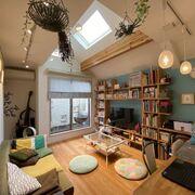 音楽、猫、本、色……好きなものを13坪にぎゅっと詰めこんだ家