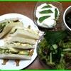 17/06/26の食事(朝:サンドイッチ、昼:寿司の残り、夜:トビウオ塩焼き)