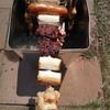 自作串焼き器稼働【目指すは宮城アングラーズヴィレッジの串焼き。再現できるか?】