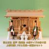 いつかは使いたい尾州桧の神棚 富士神殿三社 小型サイズの祭り例