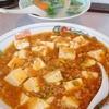 龍王軒のマーボ丼と野菜スープ