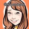 iPadproで描いた 上田まりえさんの似顔絵と似顔絵が出来上がるまで。