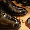 雨用の靴をピカピカにケアしました(^3^)/