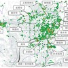 京都市内の人気撮影スポットをヒートマップにしてみた