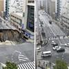 海外のメディアが驚愕 1週間で元通りになった博多駅前の陥没道路復活を絶賛