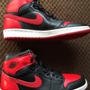 NIKE AIR JORDAN 1 RETRO (BLACK/VARSITY RED NOIR/RPRO) 2001edition