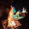 みんなで楽しめるレインボー焚き火!