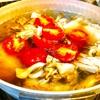 スープでチキンライス