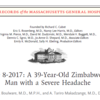 39歳のジンバブエの男性のsevereな頭痛