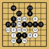 囲碁クエスト対決(9路盤・3級bot・白番)
