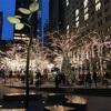 ニューヨーク クリスマス イルミネーション散策: ウォールストリートのズコッティ公園