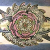 国際平和美術展の絵画制作の工程(写真)