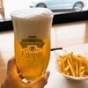 那須湯本温泉バス停前のレストラン リッカ ナス ヒュッテでとちぎ和牛ハンバーガーと昼ビール