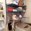 洗面所の整理、途中経過。