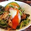 【八王子】カキノキテラスでひな鶏の油淋鶏丼ぶりとコーヒーゼリーパフェ