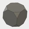 Fusion360で、半正多面体の切頂六面体をモデリングします。