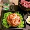 切り株玉ねぎの鶏ささミンチーズマヨ焼き