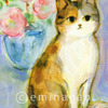 水彩イラスト 猫