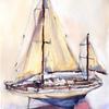 ヨットの模型