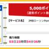 【ハピタス】JMBローソンPontaカードVisaで5,000pt(5,000円)!