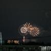 マンションの廊下から昭和記念公園の花火が見えた