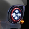 "パーツ紹介:Kuryakyn Headlight 「Orbit Prism 7"" L.E.D. Headlight with Bluetooth Controlled Multi-Color Halo」"