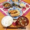 今日の晩ごはん:手羽元BBQ焼き、里芋、百合根の卵とじ、穴子きゅうりの酢の物
