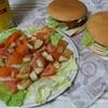 マック100円バーガーをモスバーガーとビックマックにする夜。