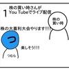 株の買い時さんの大喜利ライブ配信に参加しました【4コマ漫画】