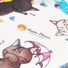 【猫キャラ】オリジナル コースター【贈り物に】