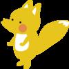 迷惑する狐