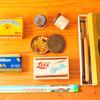 文房具の古道具。リサイクルショップで見つけた古い缶ケースの正体