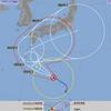 驚異的進路台風14号の予想進路!希少同じ台風が2度上陸の可能性