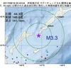 2017年08月16日 00時43分 択捉島付近でM3.3の地震