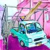 駐車場に育苗施設を作る