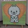 和歌山に帰省、地元の駅にあるマスコットキャラクターをペットボトルのキャップで作られた作品がありました