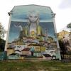 ウクライナ旅行[30](2019年5月)      キエフの観光スポット:壁画巡り