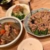 麺つゆを使ったナスとピーマンのひき肉あんかけ・鶏肉とこんにゃくの煮物